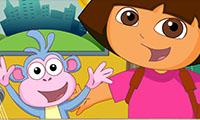 Dora opiekuje się Bootsem