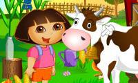 Dora en la granja